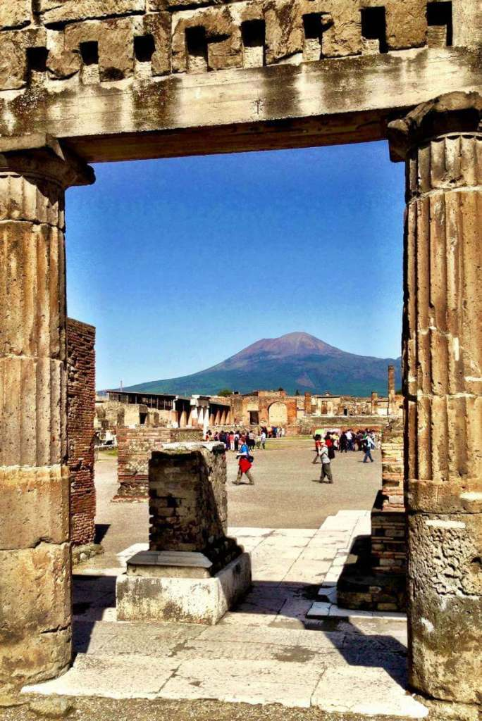 How to Visit Pompeii with Kids View of Mount Vesuvius-Kids Are A Trip