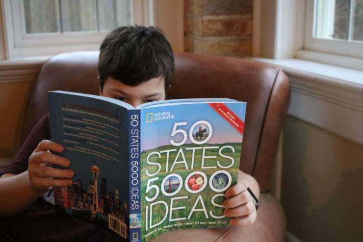 National Geographic's 50 States 5000 Ideas will intrigue readers of all ages. With interesting facts, stunning photography, and destination suggestions, it's a book you can't put down. - Kids Are A Trip