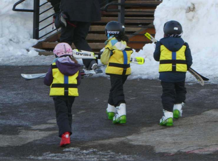 Resort at Squaw Creek is Lake Tahoe's Winter Wonderland Beginner Ski Kids - Kids Are A Trip