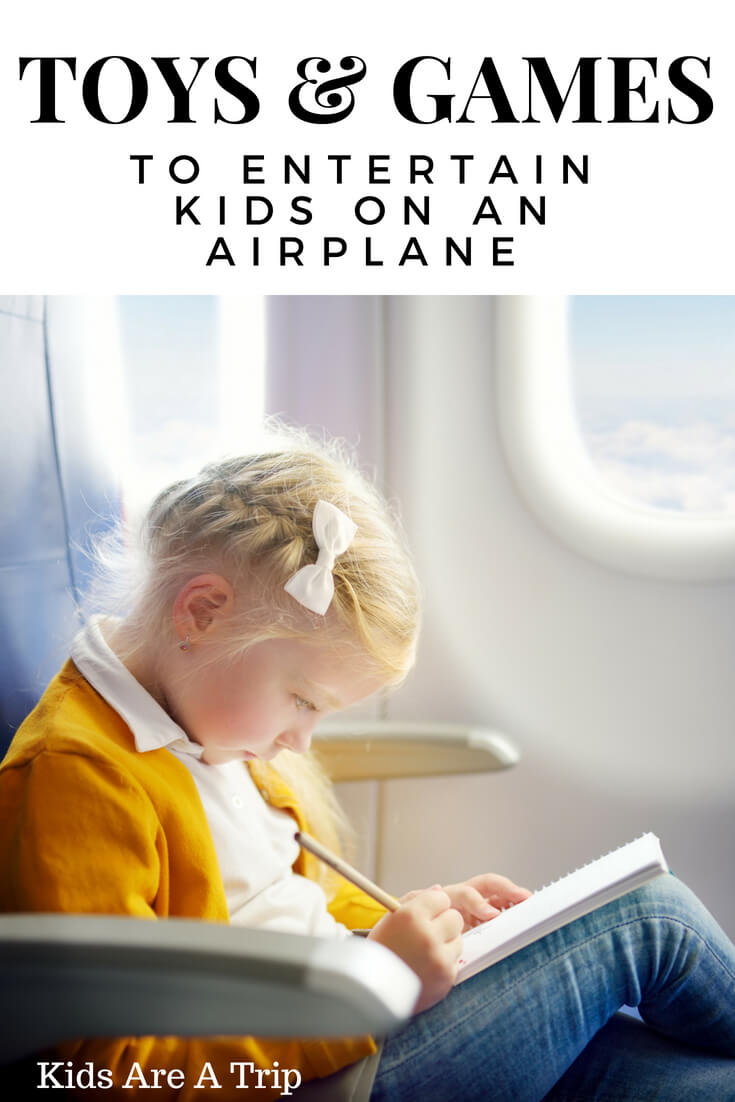 Kids can either make or break a plane ride. Here we're sharing some of the best toys and games to entertain kids on a plane to make your travels go smoothly. - Kids Are A Trip