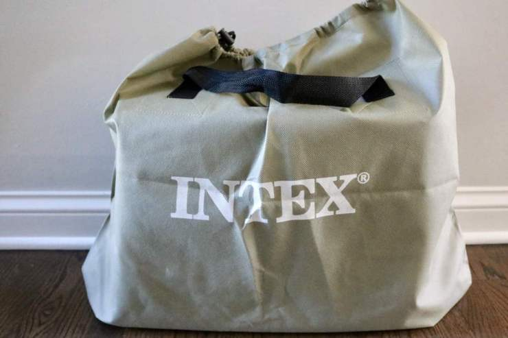 Intex Airbed With Its Own Carry Pouch-Kids Are A Trip