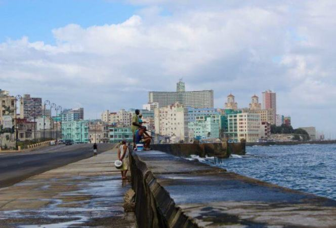 Fishing on Malecon Havana Cuba-Kids Are A Trip