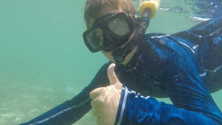 Adventures by Disney Costa Rica Vacation Underwater Snorkeling-Kids Are A Trip
