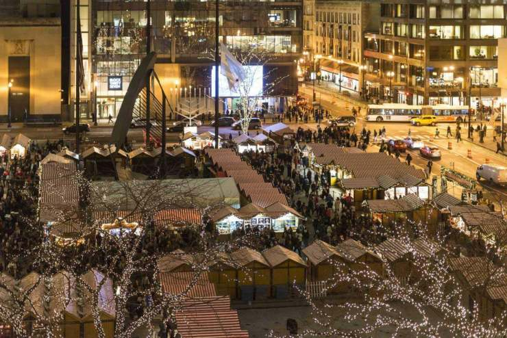 Christkindlmarket from above taken by Jim Prichard