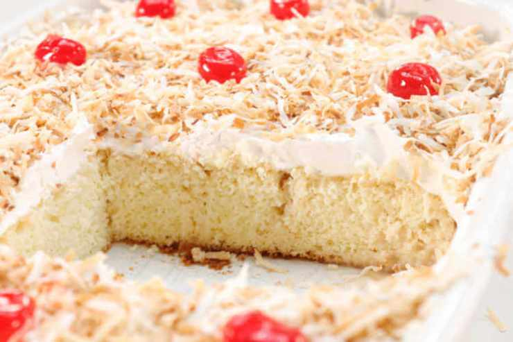 Coquito Tres Leches cake recipe-Kids Are A Trip