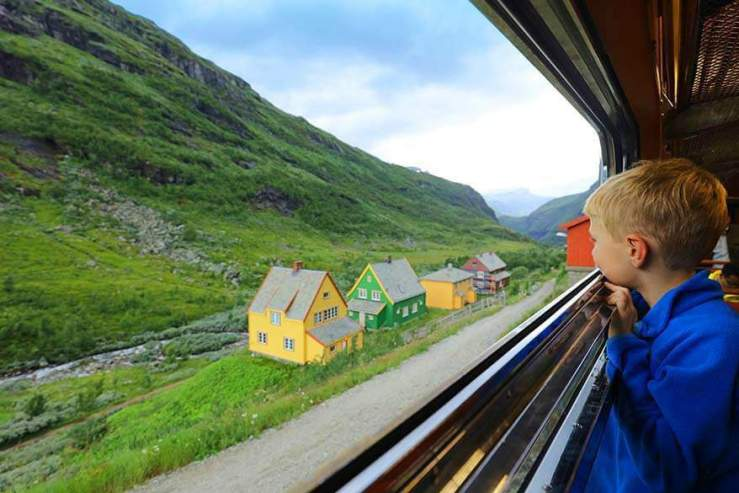 Best Family Vacation Spots Norway Flamsabana-scenic-railway-trip-from-Flam-to-Myrdal-Kids Are A Trip