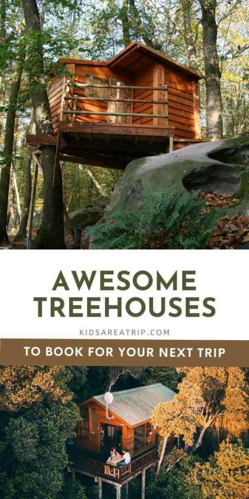 Awesome Glamping Treehouses-Kids Are A Trip