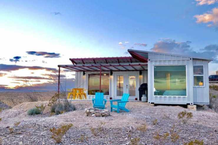 FossilKnob container house near Big Bend National Park