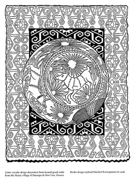 Mexican Folk Art Multicultural Coloring Activities Mexican Folk Coloring Pages