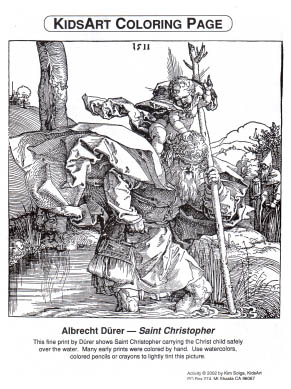 Durer Coloring Page