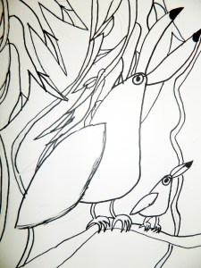 Drawing Toucans
