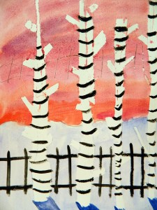 Masking out winter birch trees