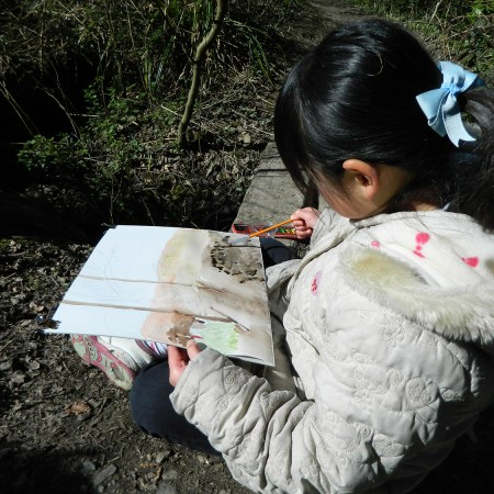 Watercolour painting at the park