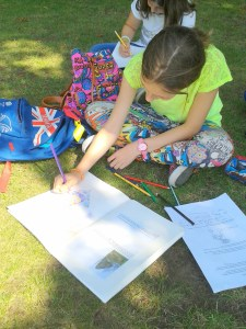 Sketching outside Serpentine Gallery