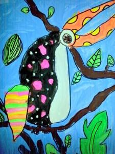 Kahlo inspired toucan