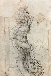 St Sebastian - 1480s - pen and ink drawing - Leonardo da Vinci