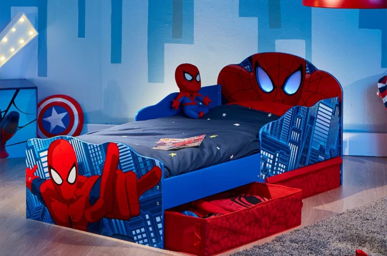 cool toddler beds for boys spiderman