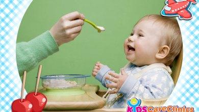 مشاكل الأكل عند الأطفال من سن 6-8 شهور