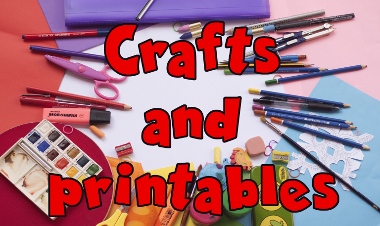 Link to craft and printable activity packs for very young learners