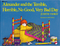 Alexander and the terrible horrible no good very bad day book cover - link to story resources page