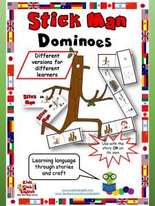 Stick Man Dominoes - Learn English through Stories and Craft
