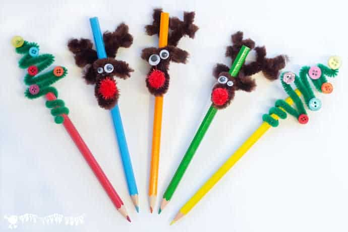 Christmas Pencil Toppers Kids Craft Room