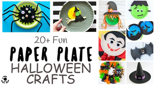 20+ Fun Paper Plate Halloween Crafts