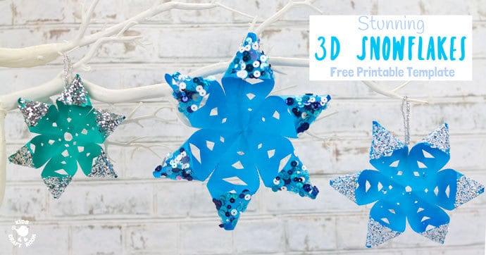 Stunning 3D Snowflake Craft Kids Craft Room