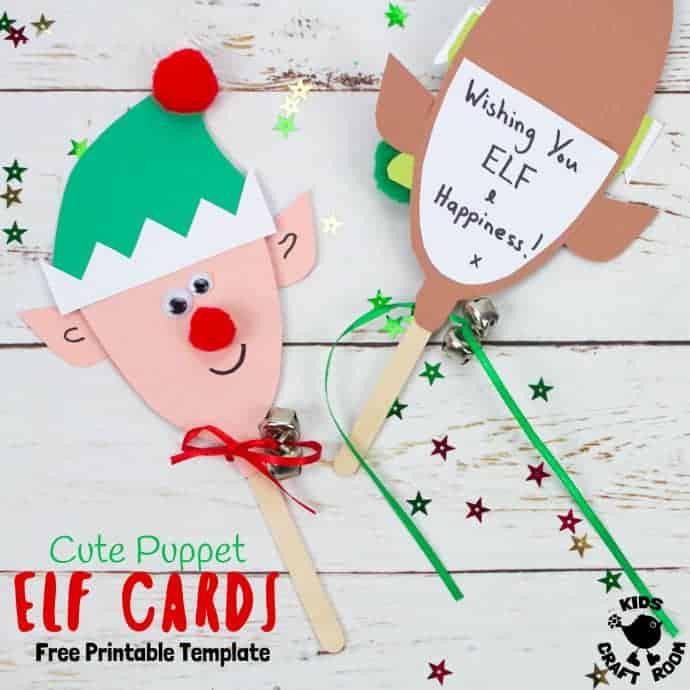 Free Printable Elf Card Template Kids Craft Room