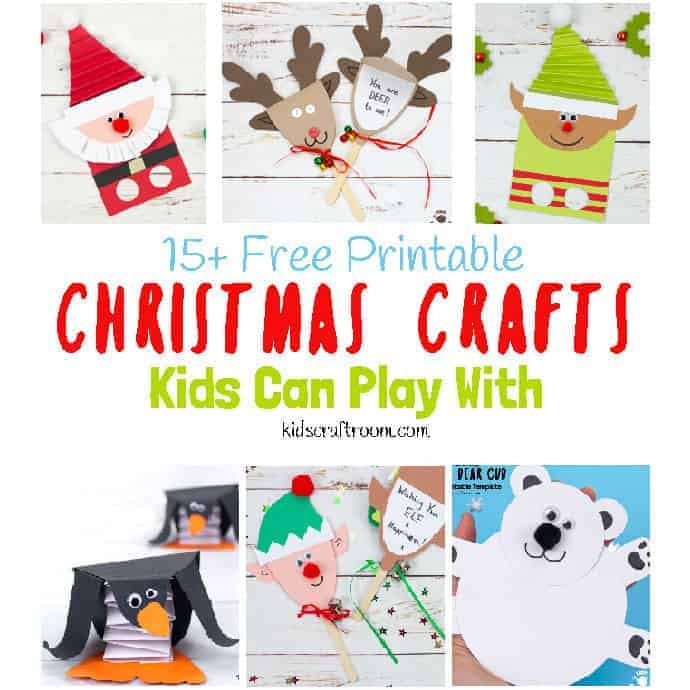 Free Printable Christmas Crafts For Kids To Play With Kids