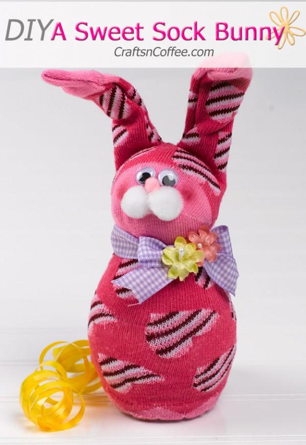 Kids Activity Sock Bunny Tutorial