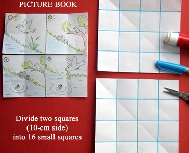 How to fold a 14 page picture book