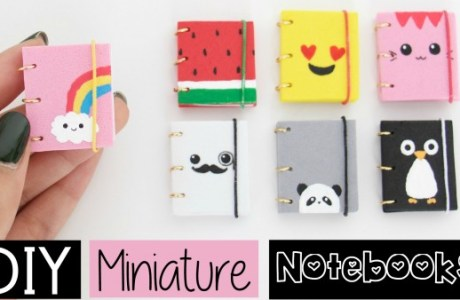 DIY Mini Notebooks Video