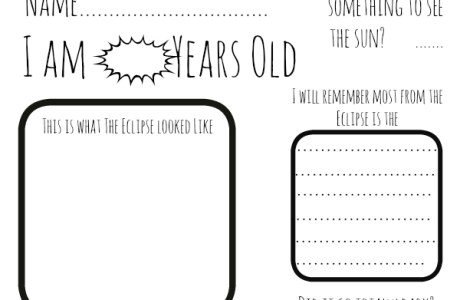 Free Printable Eclipse Activity Sheet