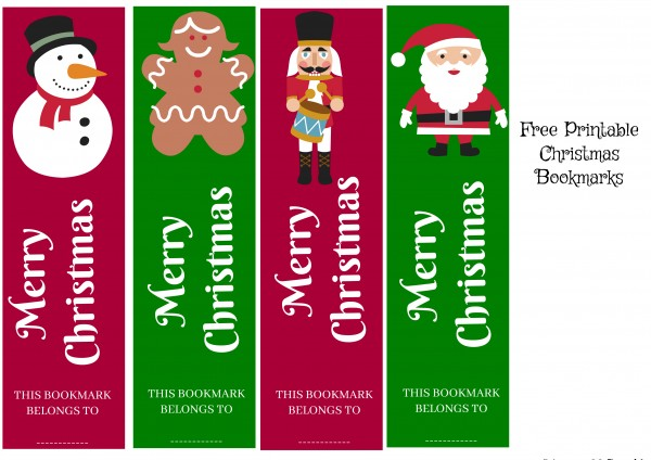 Dramatic image with regard to printable christmas bookmarks
