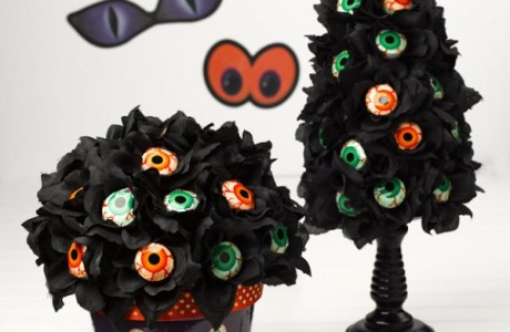 Halloween Eyeball Lollipop Topiary Tree