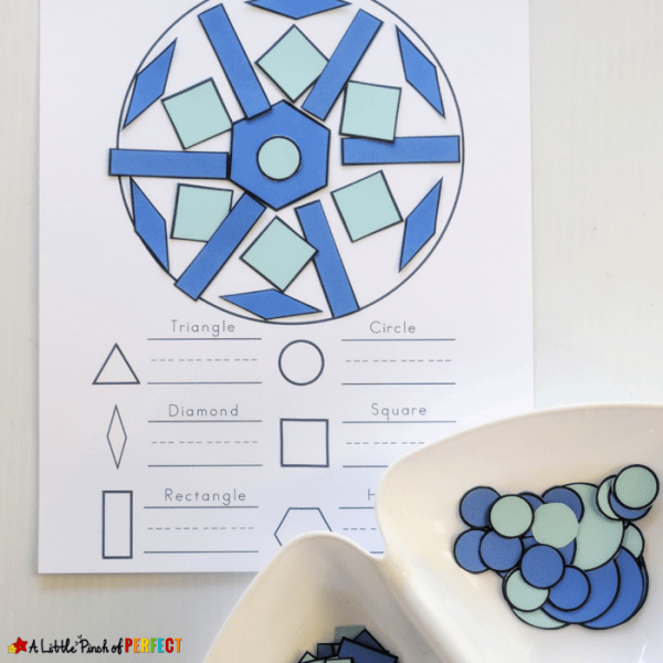 Snowflake Winter Math Printable