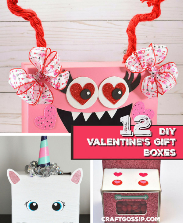 12 DIY Valentine\'s Day Gift Boxes