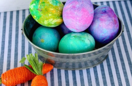 Shaving Cream Easter Egg Painting