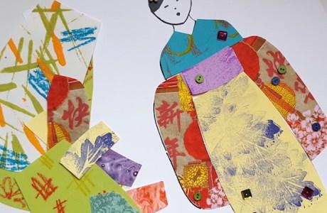Kids Craft – Paper Dolll Kimonos