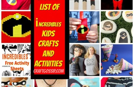 The Biggest List Of Disney Incredibles 2 Kids Crafts