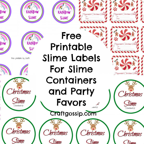 It's just a photo of Agile Printable Slime Labels