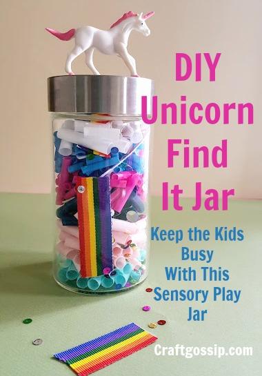 DIY Unicorn Busy Find It Jar