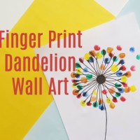 Kids Craft - Dandelion Finger Print Wall Art
