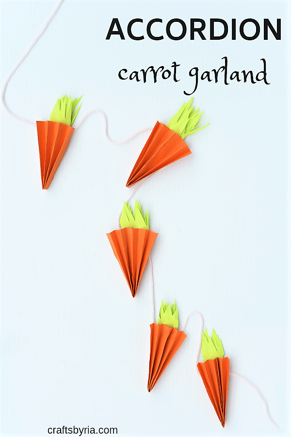 Easy Accordion Paper Carrot Garland