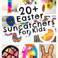 Kids Craft - 20 Easy To Make Easter Themed Suncatchers