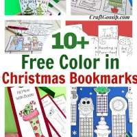 10 Free Christmas Holiday Bookmarks The Kids Can Color In