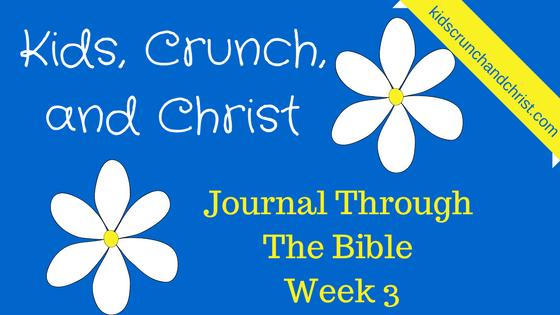 Journal Through the Bible week 3