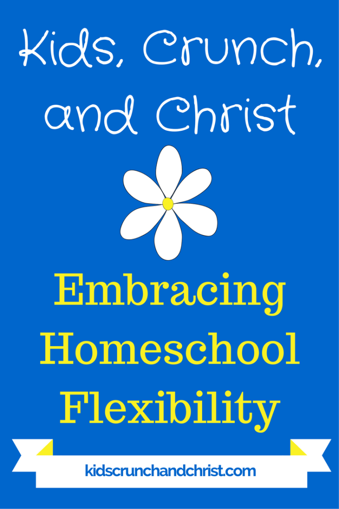 Tips for feeling blessed instead of stressed while homeschooling through life transitions.