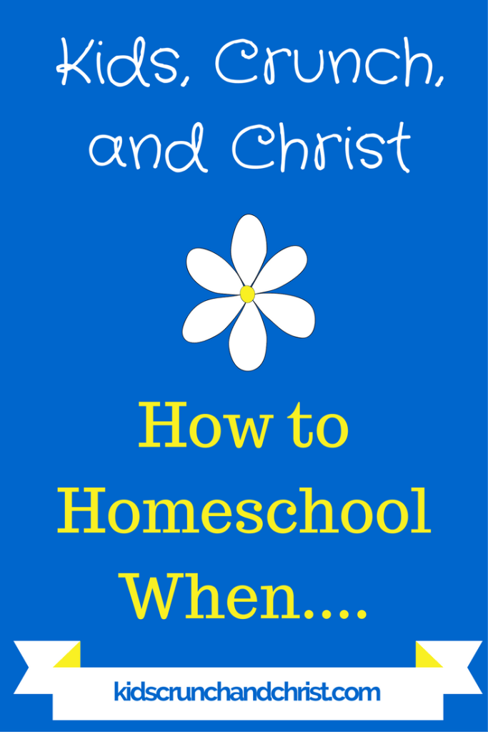 Ways to homeschool many, with babies, with toddlers.